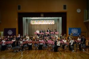市内中学校定期演奏会合同演奏出演